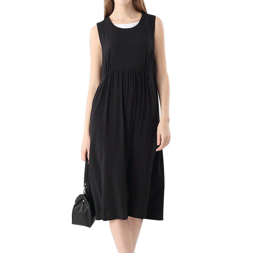 Elliscold Womens Sleeveless Casual Summer Swing Tank Dress Below