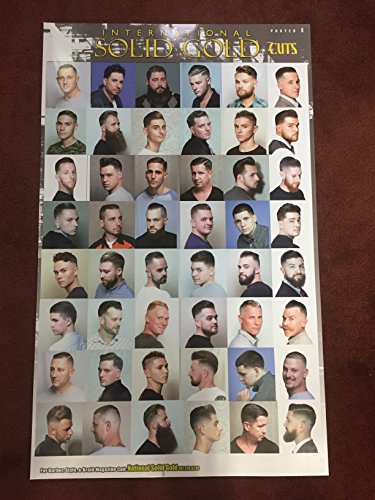 24 X 36 BARBER SHOP POSTER MODERN HAIR STYLES CAUCASIAN MEN - Styles Men Modern