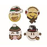 Kim Seybert Brrr Emoji Coasters, Set of 4