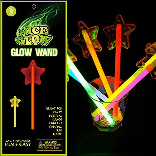 Glow Stick Five-point Star 5 pieces Light Up Toy Glowing in the Dark Fairy wand for Parties Festival Holiday Christmas Adults and Kids Favorite (Taylor Swift Red Concert Costumes)