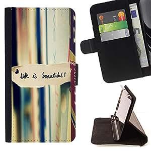 Momo Phone Case / Flip Funda de Cuero Case Cover - La vida es hermosa la lectura de libros de texto - Samsung ALPHA G850