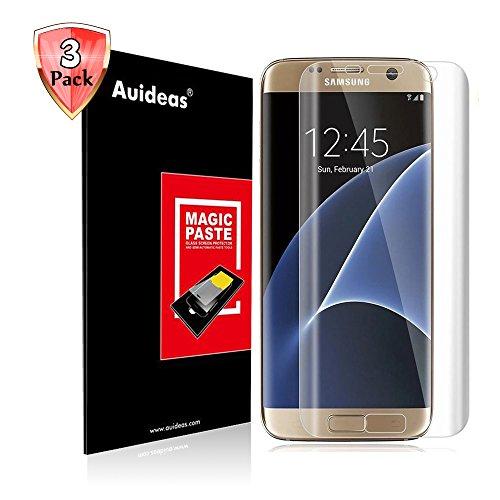 Samsung Galaxy S6 Edge + Plus Screen Protector [3D Full Coverage],Auideas[3-Pack] [Anti-Bubble] Edge to Edge PET Screen Protector for Samsung Galaxy S6 Edge + Plus(HD Clear)