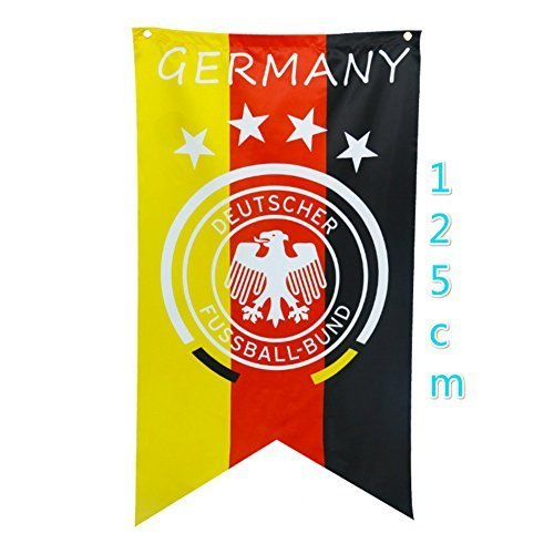 Baifeng World Cup Germany Flag,Creative 2018 FIFA World Cup Mascot Pattern Flag Banners Bunting Hanging (Mascot Banner)