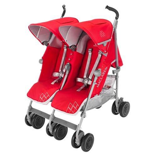 Maclaren Double Baby Stroller - 4