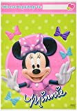 """Disney Minnie Mouse Birthday Party Toys and Prize Giveaway Folded Favour Loot Bags (8 Pack), Lime Green/Pink, 9"""" x 6 1/2""""."""