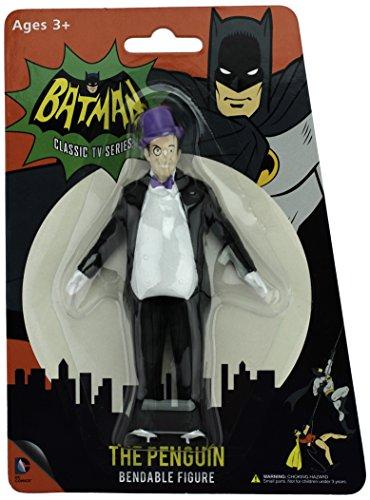NJ Croce Batman Classic TV Series The Penguin Bendable Figure (Penguin Batman)
