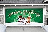 Outdoor Christmas Holiday Garage Door Banner Cover Mural Décoration - Christmas Characters Seasons Greetings Winter - Outdoor Christmas Holiday Garage Door Banner Décor Sign 7'x16'
