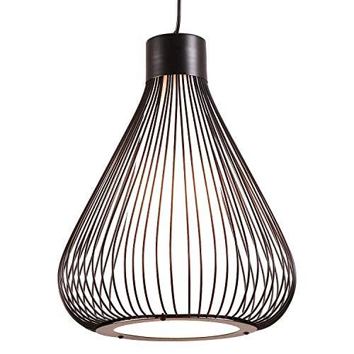 - AIDOS Industrial Retro Cage Ceiling Pendant Light, Shades Metal Basket Lamp, Vintage Wire Pendant Kitchen pendent lamp, Oil Rubbed Bronze Hanging Pendant Light LOFT Wire Cage Guard