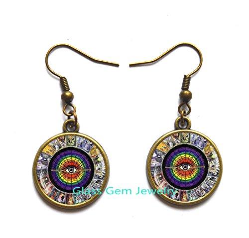 Tarot Cards Stud Earrings, Tarot Card Earrings , Alchemy Jewelry, Wiccan Jewelry, Tarot Earrings , Metaphysical Jewelry, Mystic Tarot Earrings,Q0035