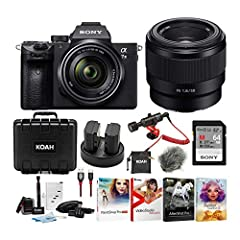 Sony α7 III Full Frame Mirrorless Interchangeable-Lens Camera with 28-70mm Lens              Refined for extraordinary image capture control and quality, the a7 III has everything you need. This kit comes with a 28-70mm lens. ...