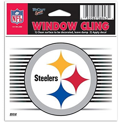 452e82db Pittsburgh Steelers NFL 3x3 Static Window Cling Decal