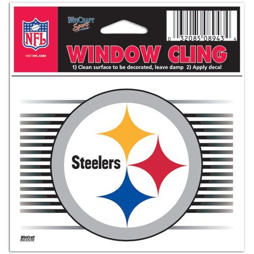 (Pittsburgh Steelers NFL 3x3 Static Window Cling Decal)