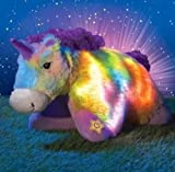 "Pillow Pets Glow Pets Rainbow Unicorn 15"" (LED Lights inside)"