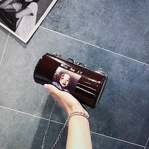 de marée Sauvage Messenger coréenne Mini Sac WSLMHH épaule Femme Sac rouge Mode la Vin Fille di Sac fEcXRnq