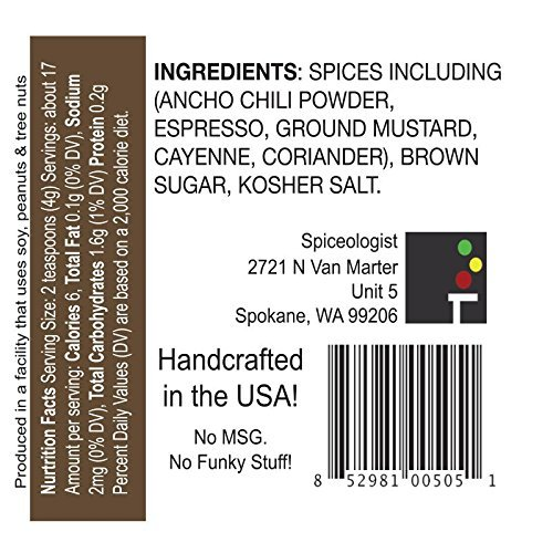 Spiceologist - Cowboy Crust BBQ Rub and Seasoning - Espresso Chile Spice Blend - 4.4 oz.