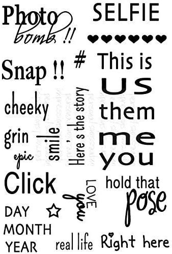 Art Stamps MM Click Sentiments Clear Stamp