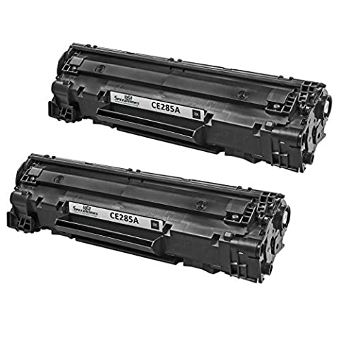 Speedy Inks - 2 Pack Remanufactured Replacement for HP 85A CE285A Black Laser Toner Cartridge for use in LaserJet Pro M1132, M1212nf, M1217nfw MFP, P1102, (Hp 85a Black Toner)