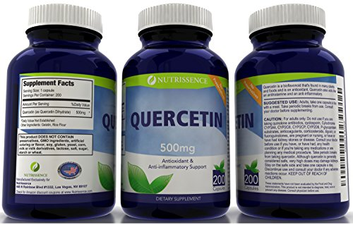 Quercetin 500mg 200 Capsules Nutrissence