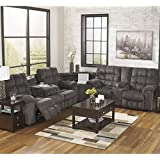 Ashley Acieona Polyester Reclining Sectional in Slate