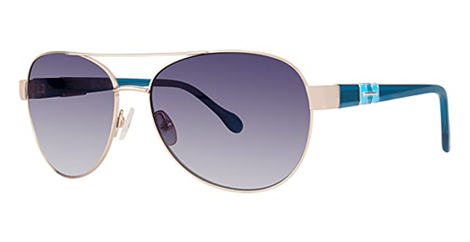e3c0024476 LILLY PULITZER Sunglasses COLBY Gold Aqua at Amazon Women s Clothing store