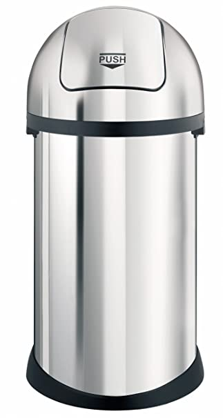 Brabantia 348501 Mulleimer Push Bin 50 L Brilliant Steel Amazon De