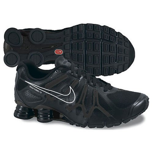 watch 08816 122a4 Nike Shox Turbo Mens Black Silver Shoes Running Trainers Shoes