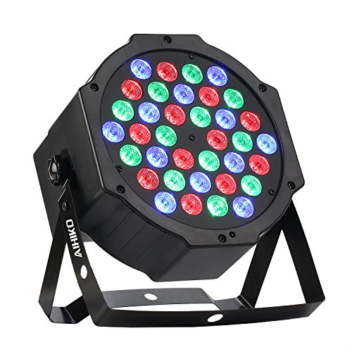 AIHIKO Disco Lights 36 LED DJ Stage Lighting Par Can Lamp Wall Washer Controlled by IR Remote and DMX for Halloween Christmas KTV Wedding Party with Mixing Color RGB Effect (Halloween Party Mixer)