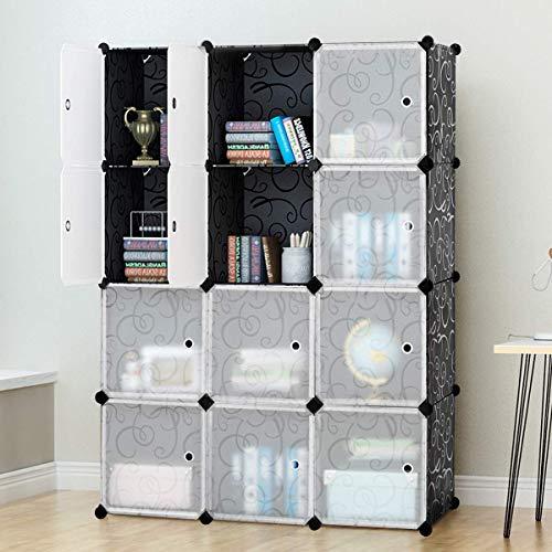 (Tangkula Portable Clothes Closet Wardrobe Cabinet Bedroom Armoire DIY Storage Organizer Closet (12 Cubes))