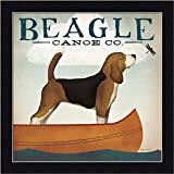Beagle Canoe Co. Ryan Fowler Dog Dragonfly Art Print Framed Picture Wall Décor Artwork