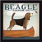 Beagle Canoe Co. Ryan Fowler Dog Dragonfly Art Print Framed Picture Wall Décor Artwork