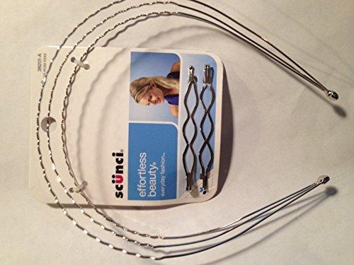 SCUNCI Headband Barrette Set 3pcs.