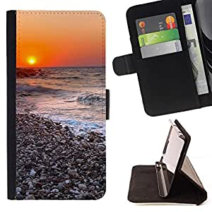For Samsung Galaxy Core Prime / SM-G360 Case , Sunset Beautiful Nature 116- la tarjeta de Crédito Slots PU Funda de cuero Monedero caso cubierta de piel