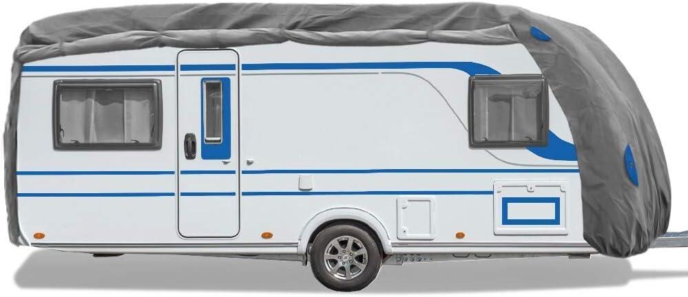 Bestcount Schutzhülle Für Wohnwagen Caravan Abdeckung In Der Größe Xl Länge X Breite X Höhe 670x250x220cm Auto