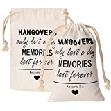 Crisky Hangover Kit Bags, Recover Kit Bags, Bachelorette Party Decorations,''Hangovers Only Last a Day'' 10 pcs, 5''x7'', Cotton