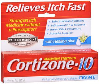 Price comparison product image Cortizone-10 Maximum Strength Anti-Itch Creme,  with Aloe - 1 oz,  Pack of 4