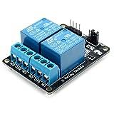QOJA 2 way relay module with optocoupler protection