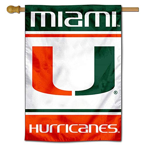 Miami Hurricanes Two Sided and Double Sided House Flag ()