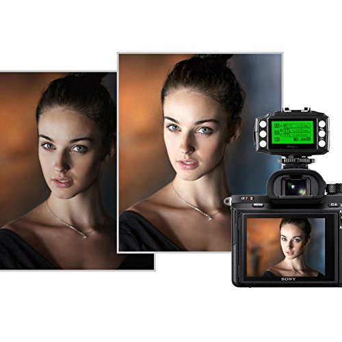 Pixel King Pro Flash Trigger,1/8000s 2.4Ghz,TTL HSS LCD Screen,Transceivers with PC Port for Sony Mi Shoe Cameras A7 A7R A7RII A6300 A65 A77II RX10III and Strobe Studio Light by PIXEL (Image #6)