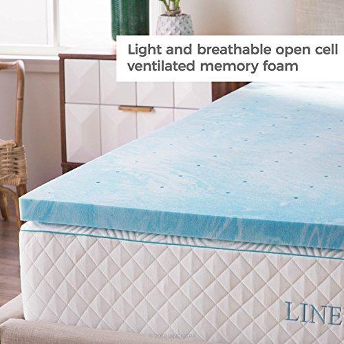 Linenspa 2 Inch Gel Swirl Memory Foam Topper - Queen
