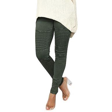 968bf55493 Pantalons Femme,ITISME Pantalons Femme Hiver Pas Cher Décontractée Solide  Pantalon Maigre Harem Mi-