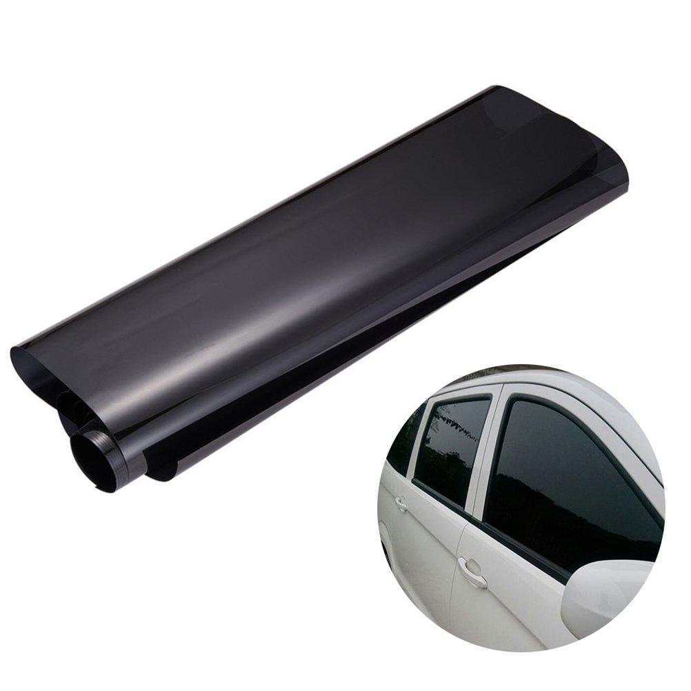 WINOMO 50cm × 3M Auto Fenster Tönung Film Universal Glas Vinyl Film für Privatsphäre und Wärme Reduzierung (schwarz)