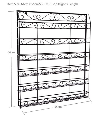 Dtemple 6 Layers Nail Polish Organizer Holder, Professional Wall-Mount, Hold up to 100 Bottles, for Home Salon Bushiness Spa