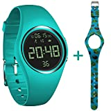 feifuns Pedometer Watch IP68 Swim Watch Waterproof Activity Tracker with Pedometer Step Counter/Distance/Calorie/Clock/Timer for Walking Running Kids Men Women with Replacement Band