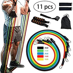 Veiai Resistance Bands Set, Exercise Fitness Ropes with Handles, Pull-up Assist Bands, Door Anchor, Foam Handles, Ankle…
