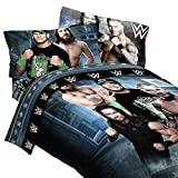 WWE 4 pc Twin 'Superstars' Comforter & Sheet Set - John Cena, Daniel Bryan, Randy and Roman