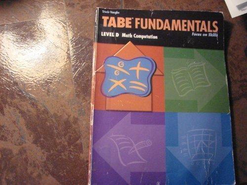 Tabe Computation Math LVL D (Tabe Fundamentals)