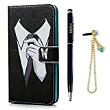 NOKIA N650 Case - YOKIRIN Soft PU Leather Cover Pouch Wallet [Built Stand] [Credit Card] [Magnetic Closure] Protective Skin - Suit Man