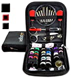 SEWING KIT for Sewing Repairs at Home & in the Office. Portable & Complete Mini Sew Kit for Travel Trips Filled with Mending Supplies and Accessories. Beginner DIY Kit for Little Sewing Emergencies