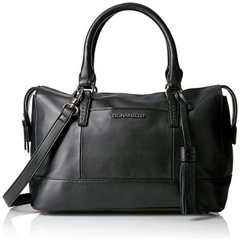 tignanello-urban-casual-barrel-satchel-black