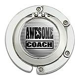 Awesome Coach Teacher Team Sports Foldable Table Bag Purse Caddy Handbag Hanger Holder Hook with Folding Compact Mirror